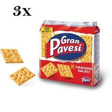 3x Gran Pavesi Crackers salati Salzgebäck gesalzen 560g kekse gebäck