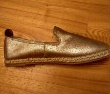 LEDER Espadrilles in 37 von Promod, gold, NEU