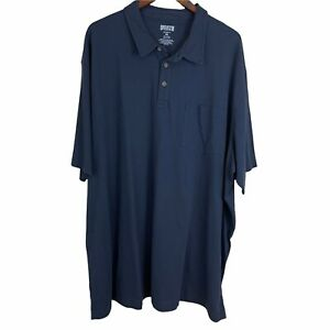 Duluth Trading Co Men's Longtail T Polo 4XL Navy Blue Pocket 100% Cotton