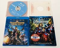 Lot Of 3 Blu-Ray Marvel Movies Guardians Of The Galaxy, Avengers, Iron Man 3