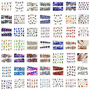 Nail Art Water Decals, Stickers for Nail Decoration, Flower Butterfly, UK Seller