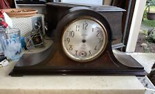 Antique Westminster Chime Mantel Clock Case With Extra Parts