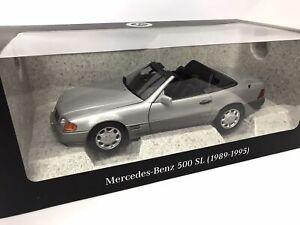 Mercedes-Benz 500 SL (1989-1995) R129, silber, Norev 1:18 - B66040656
