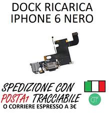 FLAT DI RICARICA DOCK CONNETTORE IPHONE 6 NERO