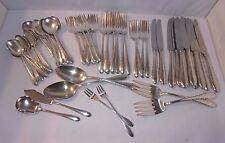 Gorham Silverplate Invitation Lot 67 Flatware Serving Forks Spoons Knives Knife