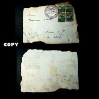 GERMANY 1937  Hindenburg Disaster Flight cover with scorched edges ,  COPY
