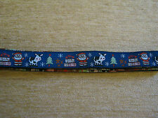 CHRISTMAS RIBBON - 2 yard lngth  *NEW*  FATHER CHRISTMAS!