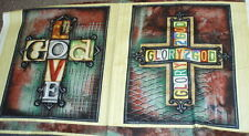 Glory to God religious panel Quilting Treasures fabric