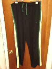 CHAMPION brand lrg polyester black Celtic athletic pants Irish stripes work-out