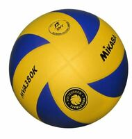 Mikasa Volleyball MVA 380K-VBL Trainingsball Freizeit Ball Gr 5 gelb blau