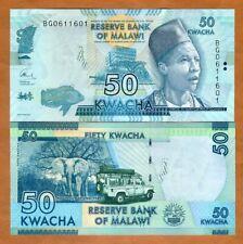 Malawi, 50 Kwacha, 2017, Pick 58 (58d), UNC > Elephant