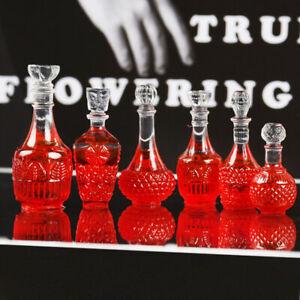 10PC Simulation Wine Bottle Miniature Figurines Resin Cabochon DIY Dollhouse