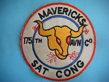 "VIETNAM WAR PATCH, US 175th AVIATION CO. ""MAVERICKS team SAT CONG"" (KILL VC)"