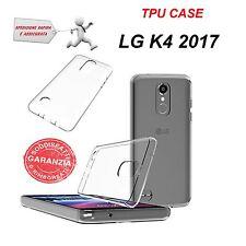 CUSTODIA COVER BACK CASE SOTTILE TPU TRASPARENTE PER LG K4 2017