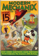 1933 MODERN MECHANIX Mickey Mouse, Buck Rogers, Popeye, Toonerville on cover