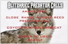 Blitzkrieg Game Calls-Bobcat-Fox-Coyote Call-Predator Call-Close Range Call