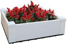 "28.8"" x 28.8""Square Hyams White Composite Lumber Patio Raised Garden Bed Kit"