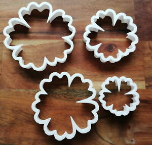 Hibiscus Flower Cookie Cutter Biscuit Dough Pastry Fondant Stencil NA24-27