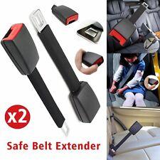 2 x Seatbelt Safety Belt Extender High Strength Car Auto Extension Buckle Clip