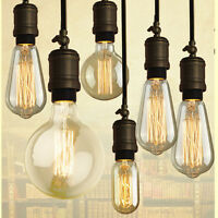 1/3 x 60W Vintage Retro Filament Light Bulbs Industrial Style Lights Edison E27