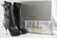 Vivienne Westwood 54809017-W61 Womens Black Spike Heeled Biker Boots Size 7  ANB