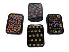 Assorted Design Hippie Leaf Peace Stash Tin Box Tobacco Cigarette