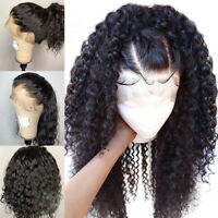 Silk Base Full Lace Wig Deep Curly Remy Indian Human Hair Wigs Natural Scalp qrb
