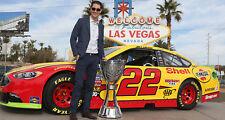 NASCAR SUPERSTAR JOEY LOGANO WINS 2018 MONSTER ENERGY CUP 8X10 PHOTO W/BORDERS