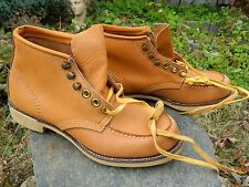 """Unknown Brand 6"""" Work Boots / Tan Leather / Us Men: 6 1/2 / Deadstock Condition"""