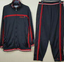 NIKE AIR JORDAN BASKETBALL TRACK SUIT JACKET + PANTS BLACK RED (SIZE 3XL / 2XL)