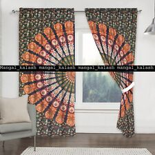 Indian mandala cotton bohemian window drapes balcony room door valance curtain