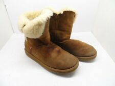 UGG Australia Womens Bailey Button 5803 Sheepskin Boot Chestnut Size 8M