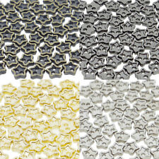 4mm Star DIY Doll Clothes Sewing Sew On Plated Metal Miniature Buttons 60pcs
