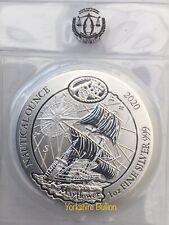 2020 Rwanda 1 oz Silver Nautical Ounce Mayflower