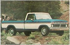 1977 Ford F-100 Ranger XLT Pickup Truck Automobile Advertising Postcard