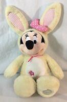 Disney Store Minnie Mouse Yellow Easter Bunny Plush stuffed animal Plush Toy
