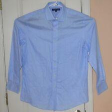 Tommy Hilfiger Men's Button Up Long Sleeve Dress Shirt Size 16 32-33 Blue