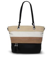 Multi Colour Stripes Elegant Shoulder Bags Long Handle Ladies Tote Bags H003