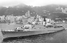 ROYAL NAVY COUNTY CLASS DESTROYER HMS DEVONSHIRE AT HONG KONG