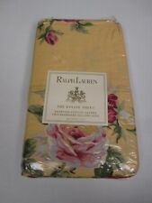 Ralph Lauren KATHLEEN Egyptian Cotton Yellow Rose Floral 2 Standard Pillowcases
