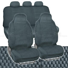 Scottsdale High Back Checker Premium Bucket Seat Car Covers - Charcoal 7 PC