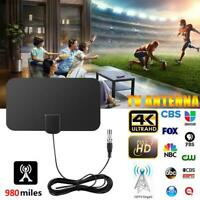 Digital TV Antenna 980 Miles Range Signal Booster Amplifier HDTV Indoor 4K