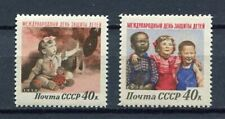 28159) RUSSIA 1958 MNH** Nuovi** Children 2v Scott# 2070/71