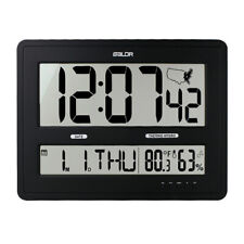 BALDR Large Digital Wall Clock With Big Time Display Jumbo Wall Clock for Office