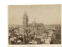 Allemagne, Cologne, La Cathédrale  Vintage albumen print. Tirage albuminé  1
