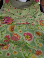 Girl's Picture Me Hanky Green Spring Summer Floral Dress 12 months Pink Cotton