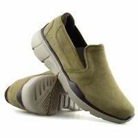 Mens Skechers Leather Wide Fit Slip On Memory Foam Walking Trainers Shoes Size