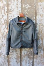 Nubuck Cowhide Leather Men's Jacket Made-To-Order