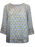 NEW Ex MISTRAL Blue Floral Print Blouse Top - Sizes 10 to 16 - RRP £39.99