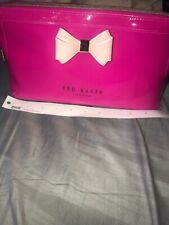 Pink Ted Baker Bow Cream And Rose Gold Wash Bag
